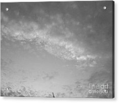 Clouds -shapes In Black-2 Acrylic Print by Katerina Kostaki