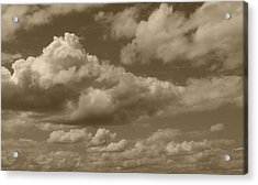 Cloudscape In Sepia Acrylic Print by Suzanne Gaff
