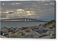 Cloudy Afternoon Bonner Bridge Acrylic Print