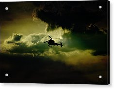 Cloudy Copper Acrylic Print by Paul Job