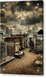 Cloudy Day At St. Louis Cemetery Acrylic Print