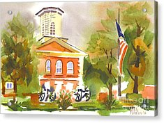 Cloudy Day At The Courthouse Acrylic Print