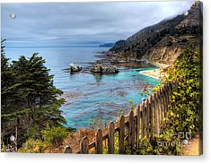 Cloudy Day In Big Sur Acrylic Print