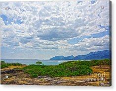 Cloudy Day In Oahu Acrylic Print by Nur Roy