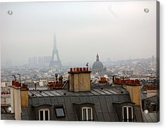 Cloudy Day In Paris Acrylic Print by Peter Cassidy