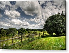 Cloudy Day In The Country Acrylic Print by Kaye Menner