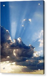 Cloudy Day Rays Acrylic Print by Dorothy Berry-Lound