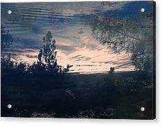 Cloudy Lake Acrylic Print by Nicole Swanger