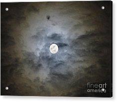 Cloudy Moon 2 Acrylic Print