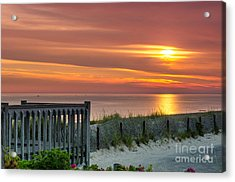 Acrylic Print featuring the photograph Sandy Neck Beach Sunrise by Mike Ste Marie