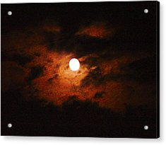 Cloudy Night Sky Acrylic Print by Robert J Andler