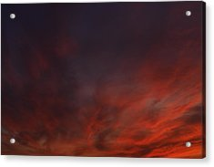 Cloudy Red Sunset Acrylic Print
