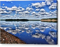 Cloudy Reflection Acrylic Print by Scott Holmes