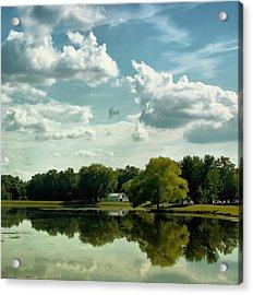 Cloudy Reflections Acrylic Print by Kim Hojnacki