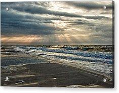 Cloudy Sunrise Acrylic Print by Michael Thomas