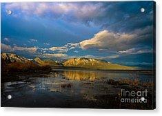 Cloudy Sunrise Acrylic Print by Mitch Shindelbower