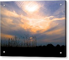 Cloudy Sunrise Acrylic Print by Rita Mueller