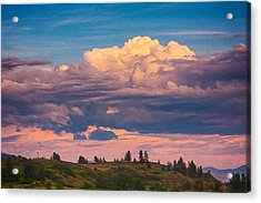 Cloudy Sunset Acrylic Print by Omaste Witkowski