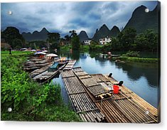 Acrylic Print featuring the photograph Cloudy Village by Afrison Ma