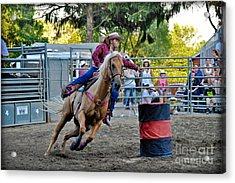 Clover Runner Acrylic Print by Gary Keesler