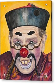 Watercolor Clown #15  Bill Gillespie Acrylic Print