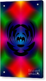 Clown In Color Acrylic Print by Steve Purnell