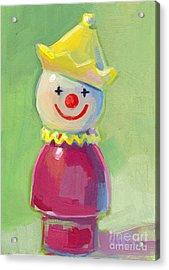 Clown Acrylic Print by Kimberly Santini