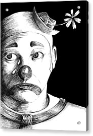 Clown Of Tears Acrylic Print by Carl Genovese