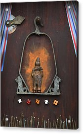 Acrylic Print featuring the sculpture Clown On A Swing  C2011 by Paul Ashby