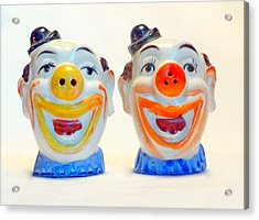 Vintage Clown Salt And Pepper Shakers Acrylic Print