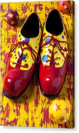Clown Shoes And Balls Acrylic Print by Garry Gay