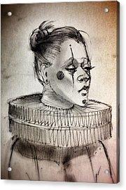 Clownette Acrylic Print