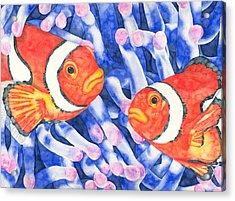 Clownfish Couple Acrylic Print