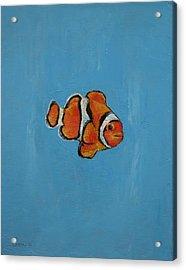 Clownfish Acrylic Print by Michael Creese