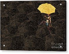 Clowning On Umbrellas 03 - A12 Acrylic Print by Variance Collections