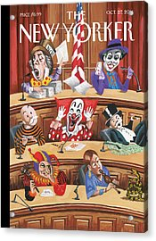 Clowns, Fools And Jokers Preside Over Congress Acrylic Print by Mark Ulriksen