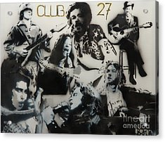 Club 27 Acrylic Print by Barry Boom