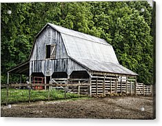 Clubhouse Road Barn Acrylic Print by Cricket Hackmann