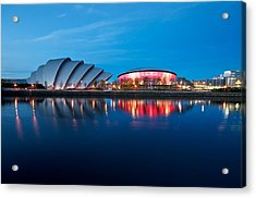 Clydeside Reflected Acrylic Print by Stephen Taylor