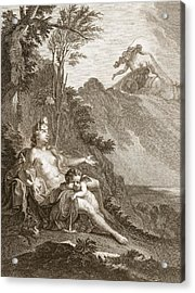 Clytia Turned Into A Turnesole, 1731 Acrylic Print by Bernard Picart