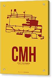 Cmh Columbus Airport Poster 3 Acrylic Print by Naxart Studio