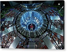 Cms Detector Acrylic Print by Fons Rademakers/cern