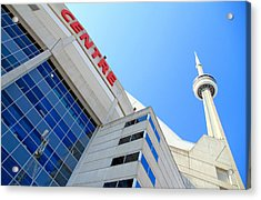 Cn Tower And Rogers Centre Acrylic Print by Valentino Visentini