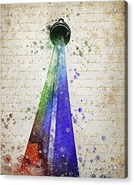 Cn Tower Toronto Acrylic Print by Aged Pixel