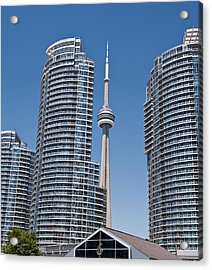 Acrylic Print featuring the photograph Cn Tower Toronto by Marek Poplawski