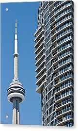 Acrylic Print featuring the photograph Cn Tower Toronto Ontario by Marek Poplawski