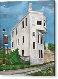 Cn Wellington Control Tower Acrylic Print by Reb Frost