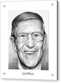 Coach Lou Holtz Acrylic Print
