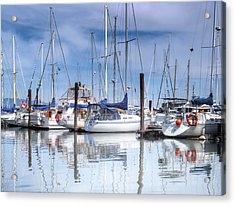 Coal Harbour Boats Acrylic Print