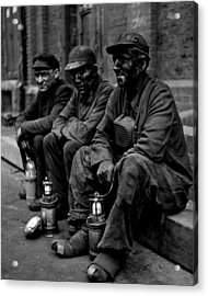 Coal Miners Dirty Job Vintage  Acrylic Print by Retro Images Archive